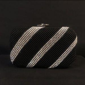 Black Diamond Gem Clutch Hand Bag